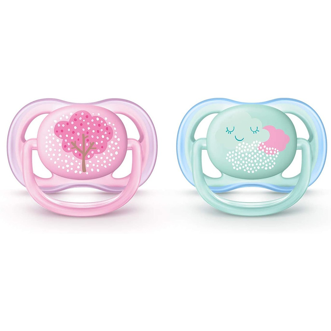 Avent Succhietto Ultra Air 0-6m Femmina Blossom
