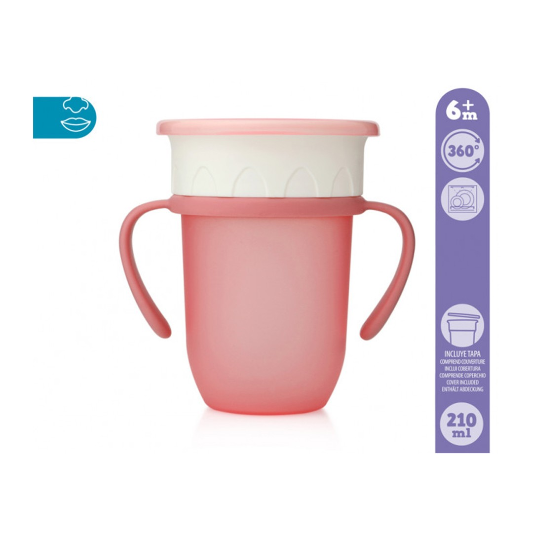 Kiokids Tazza Step3 Rosa 210ml