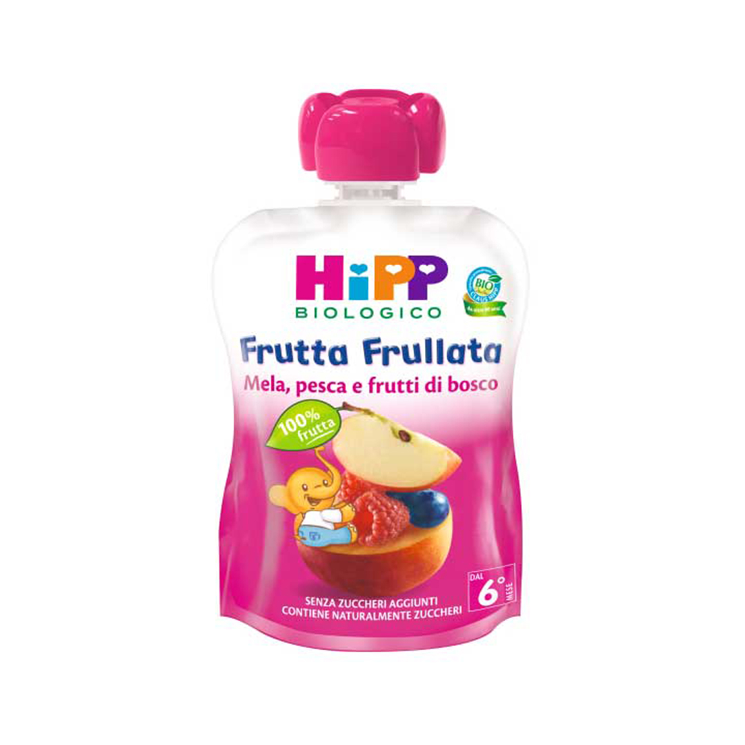 Hipp Frutta Frullata Mela Pesca Frutti di Bosco 90g