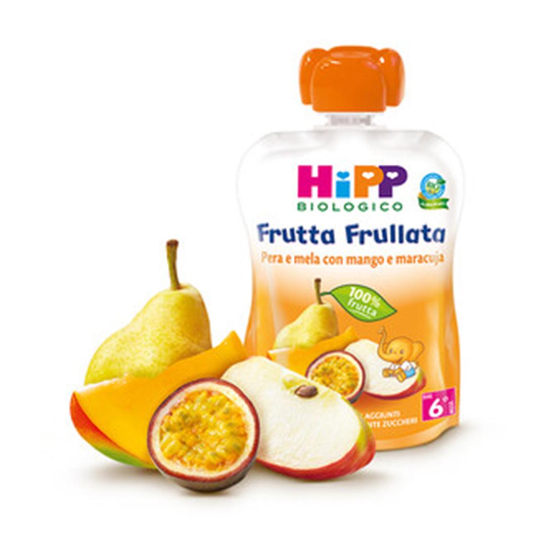 Hipp Frutta Frullata Pera Mela con Mango e Maracuja 90g