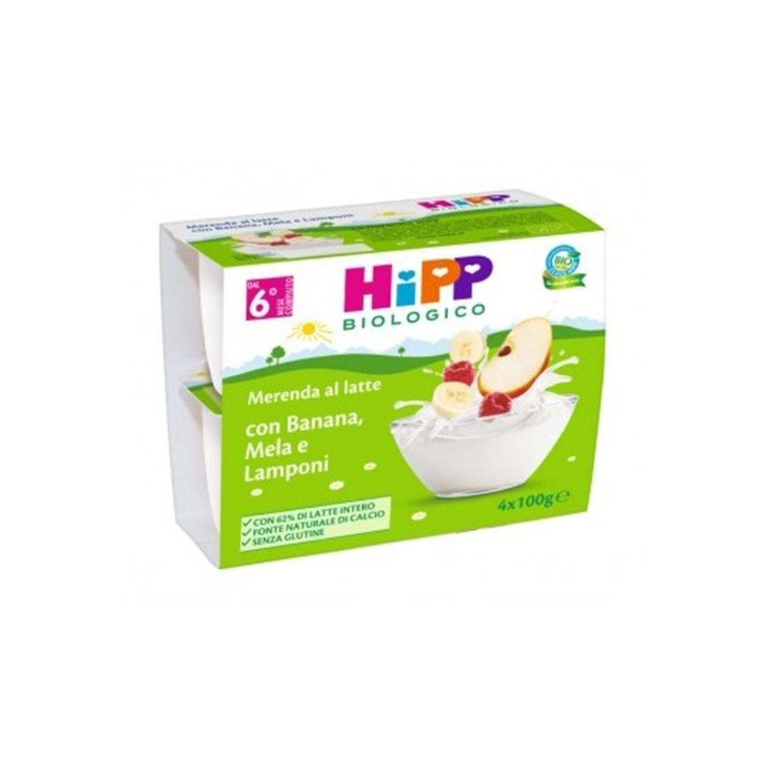 Hipp Merenda al Latte Banana Mela Lampone 4x100g