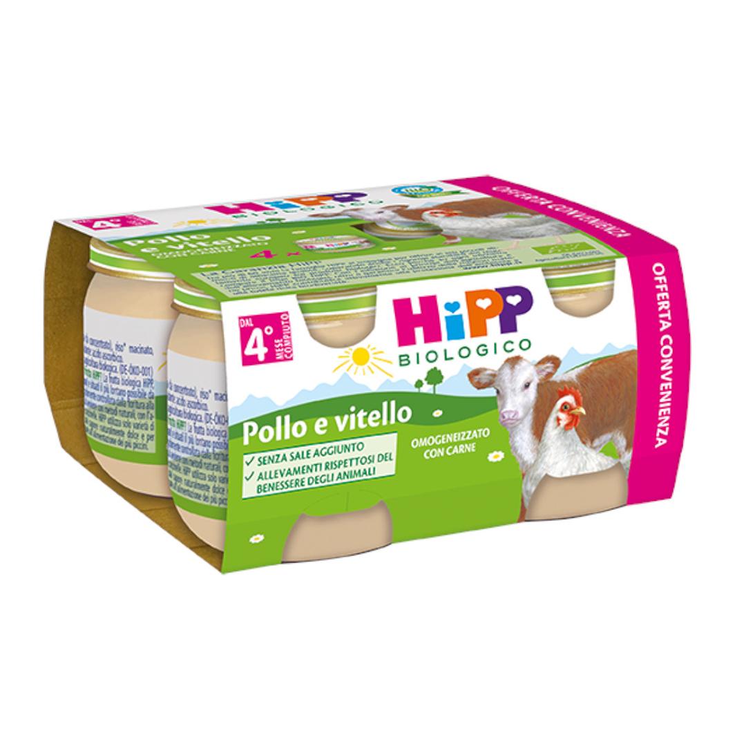 Hipp Omogenizzati Carne Multipack Pollo e Vitello 4x80g