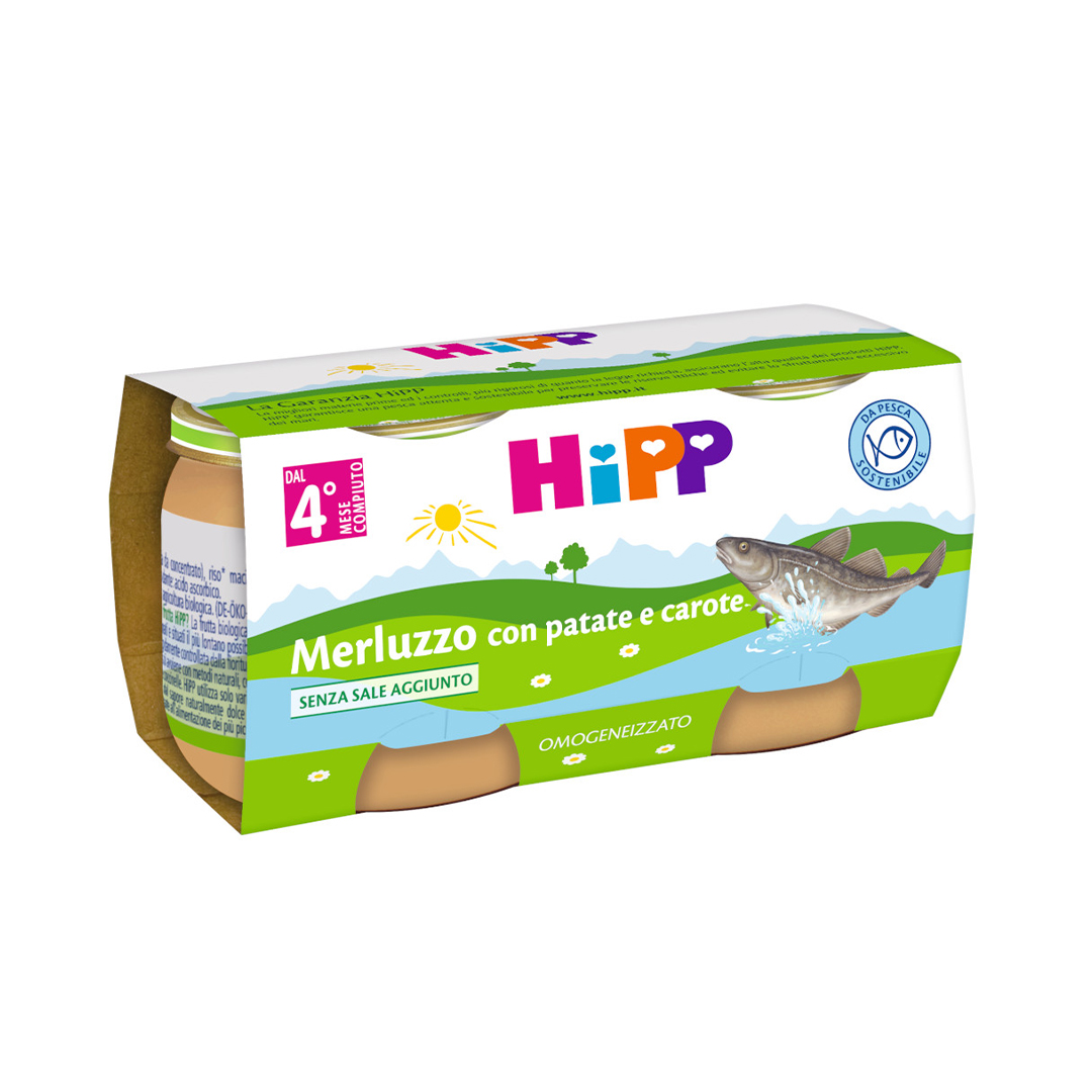 Hipp Omogenizzati Pesce Merluzzo con patate e carote 2x80g