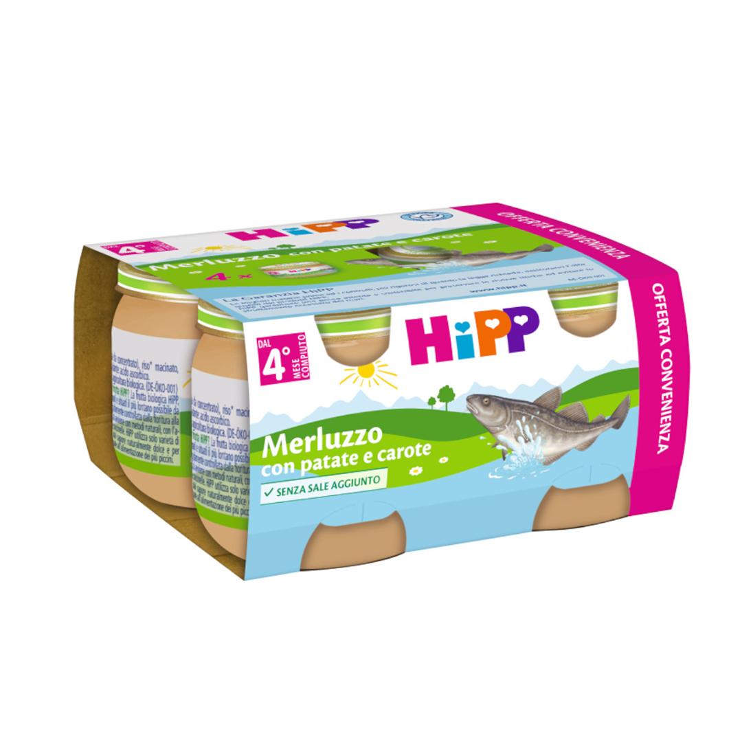 Hipp Omogenizzati Pesce Multipack Merluzzo con patate e carote 4x80g