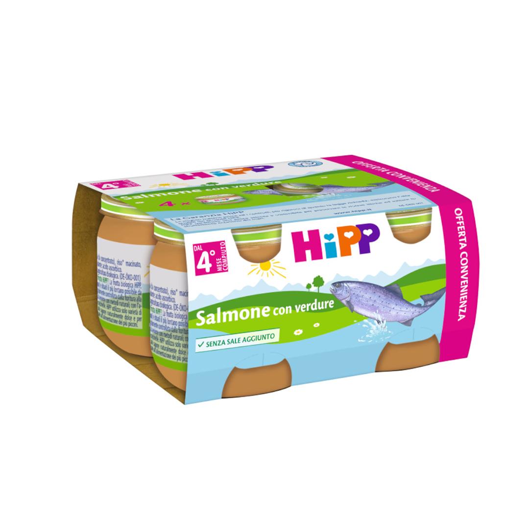 Hipp Omogenizzati Pesce Multipack Salmone con verdure 4x80g