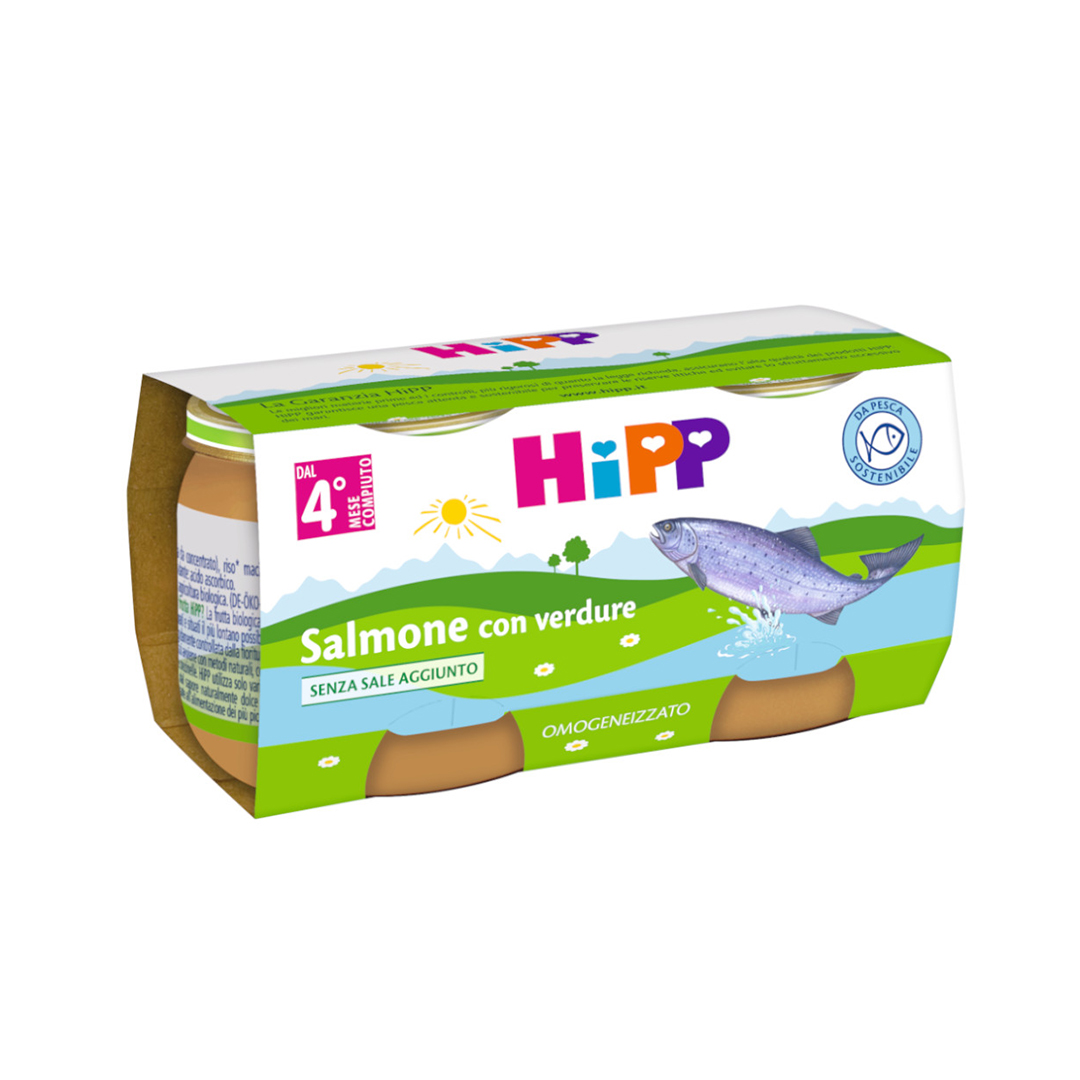 Hipp Omogenizzati Pesce Salmone con verdure 2x80g