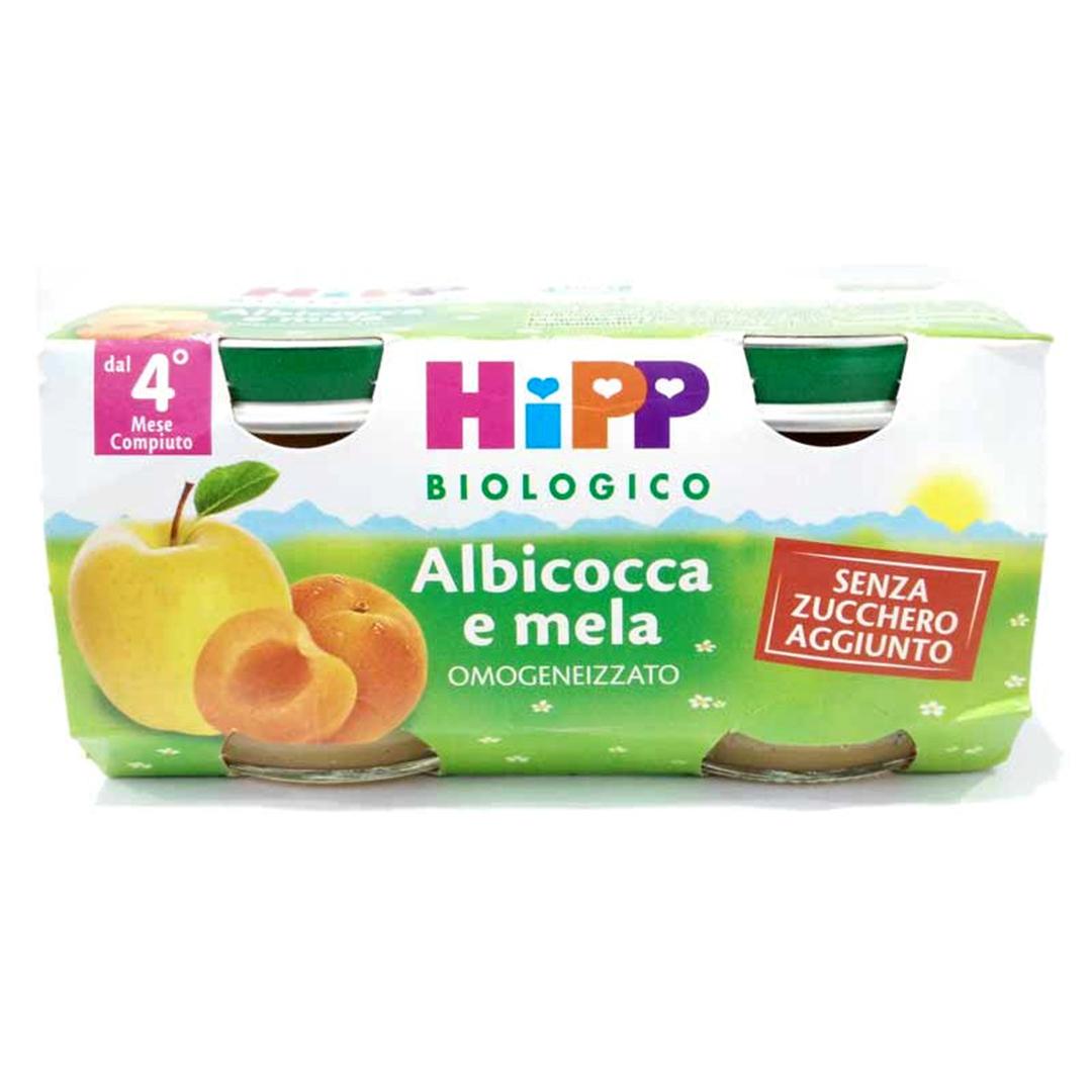 Hipp Omogenizzato Bio Mela Albicocca 2x80g