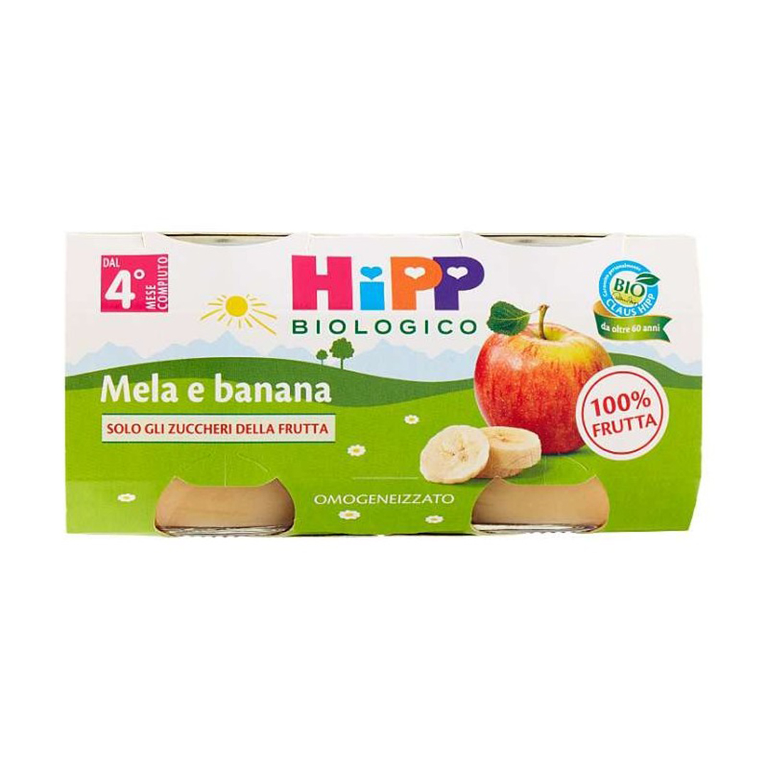Hipp Omogenizzato Bio Mela Banana 2x80g