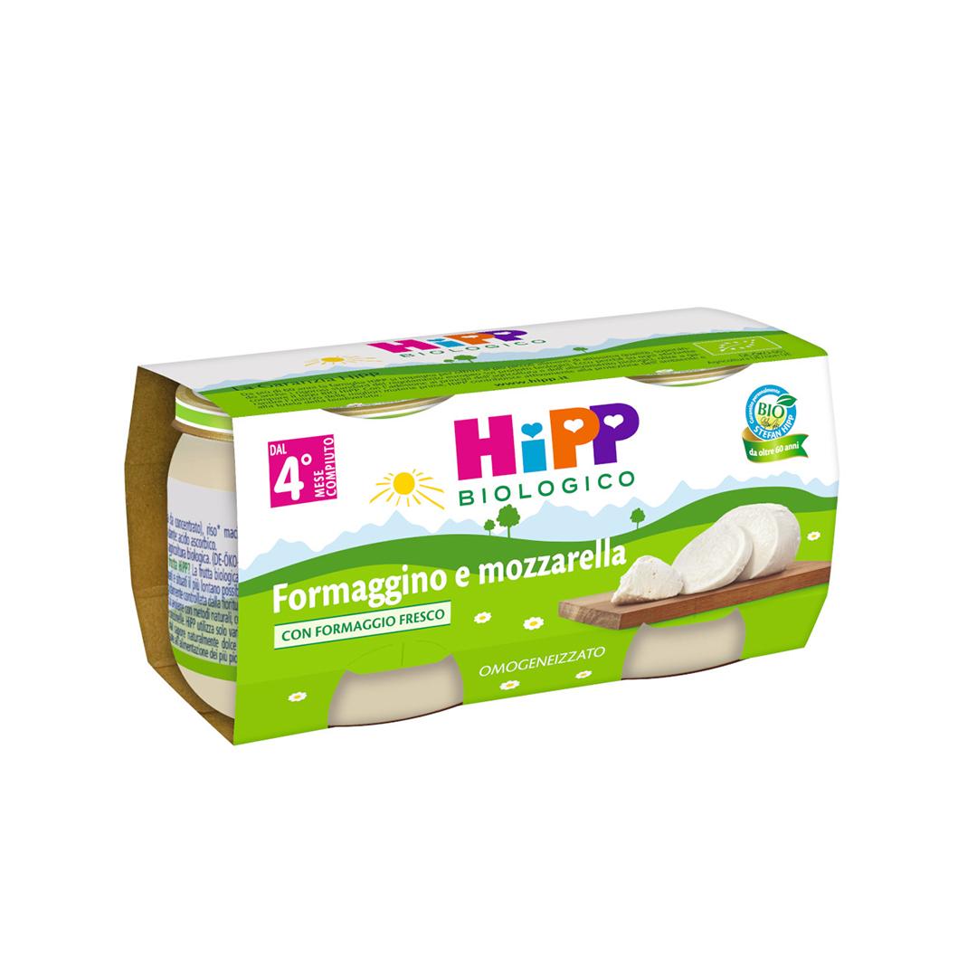 Hipp Omogenizzato Formaggino e Mozzarella 2x80g