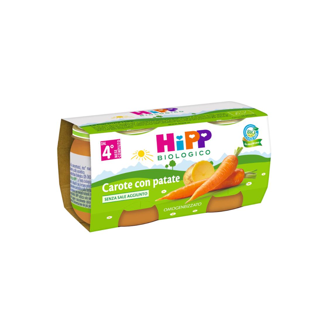 Hipp Omogenizzato Verdure Carote con Patate 2x80g