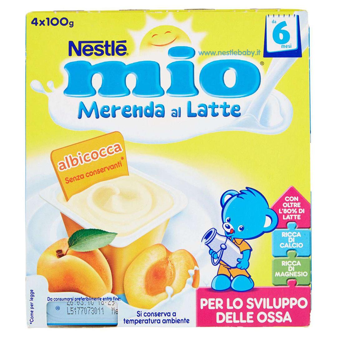 Mio Merenda al Latte Albicocca 4x100g