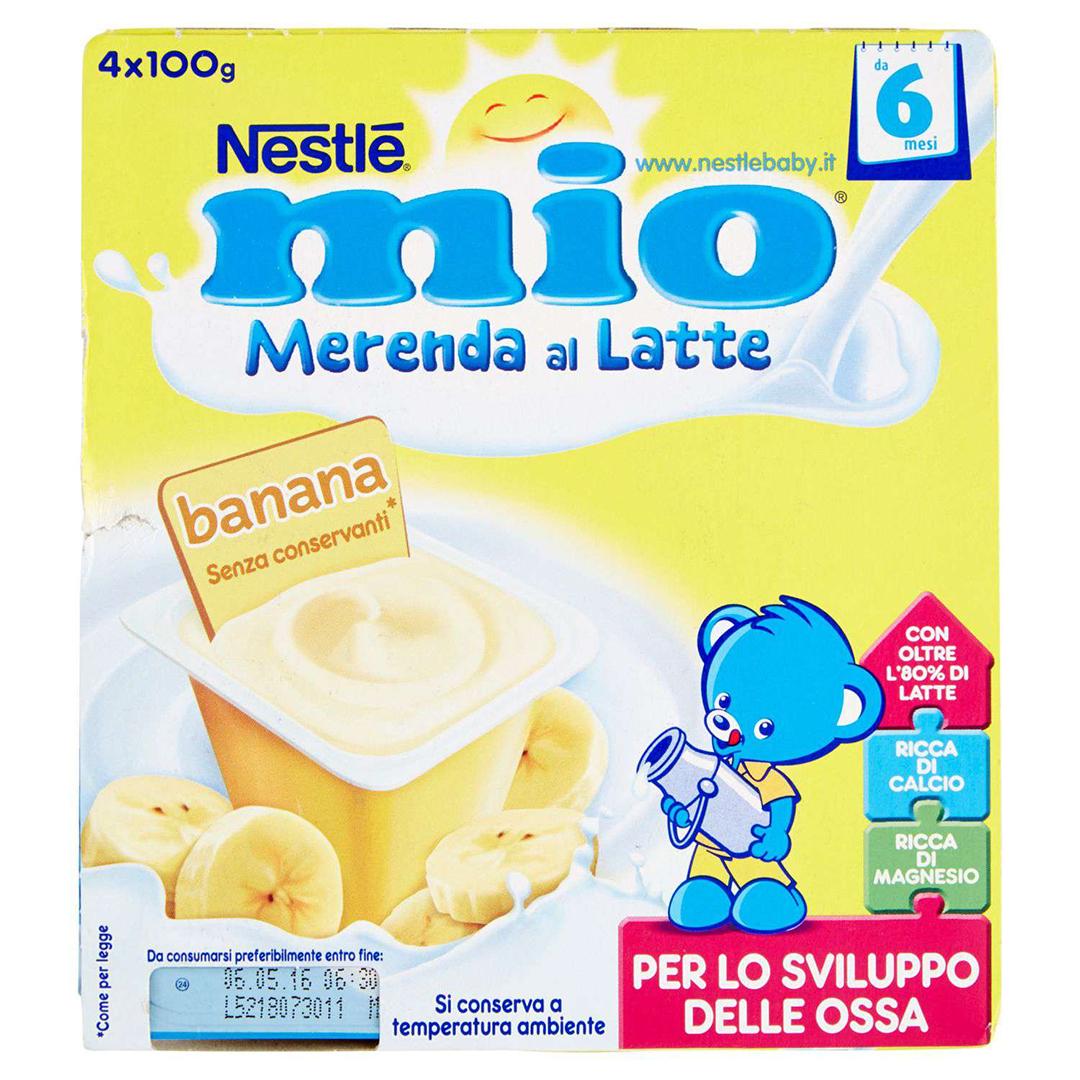 Mio Merenda al Latte Banana 4x100g