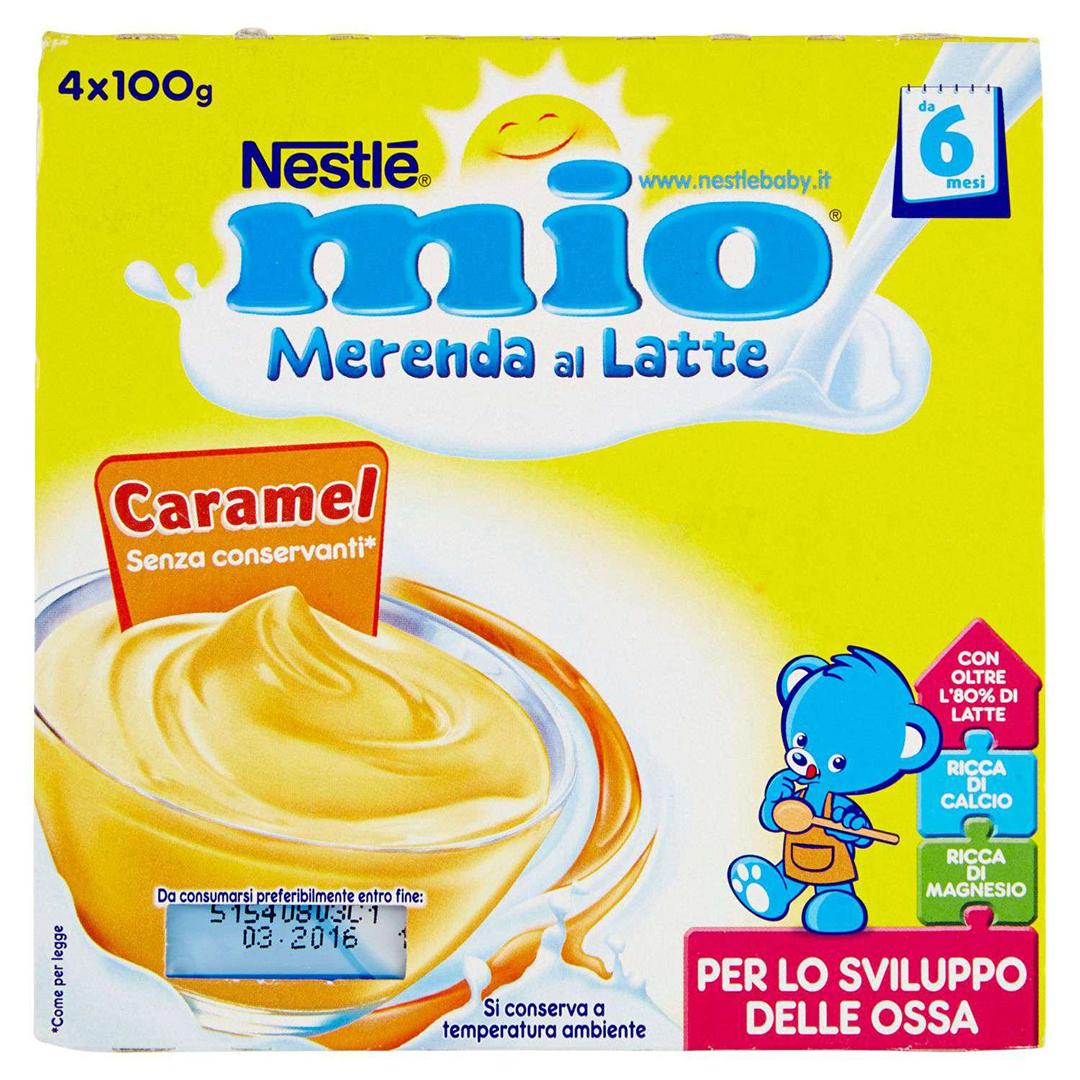 Mio Merenda al Latte Caramel 4x100g