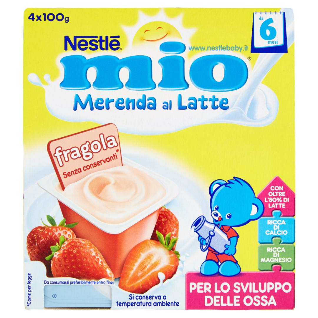 Mio Merenda al Latte Fragola 4x100g