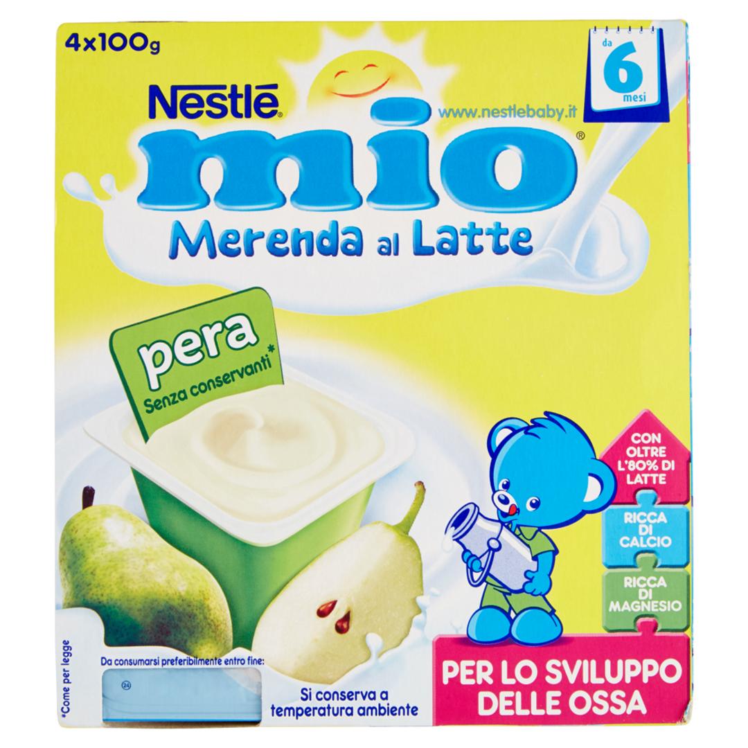 Mio Merenda al Latte Pera 4x100g
