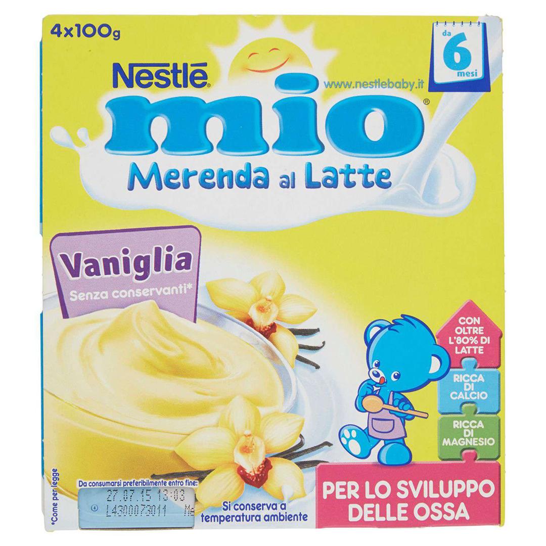 Mio Merenda al Latte Vaniglia 4x100g