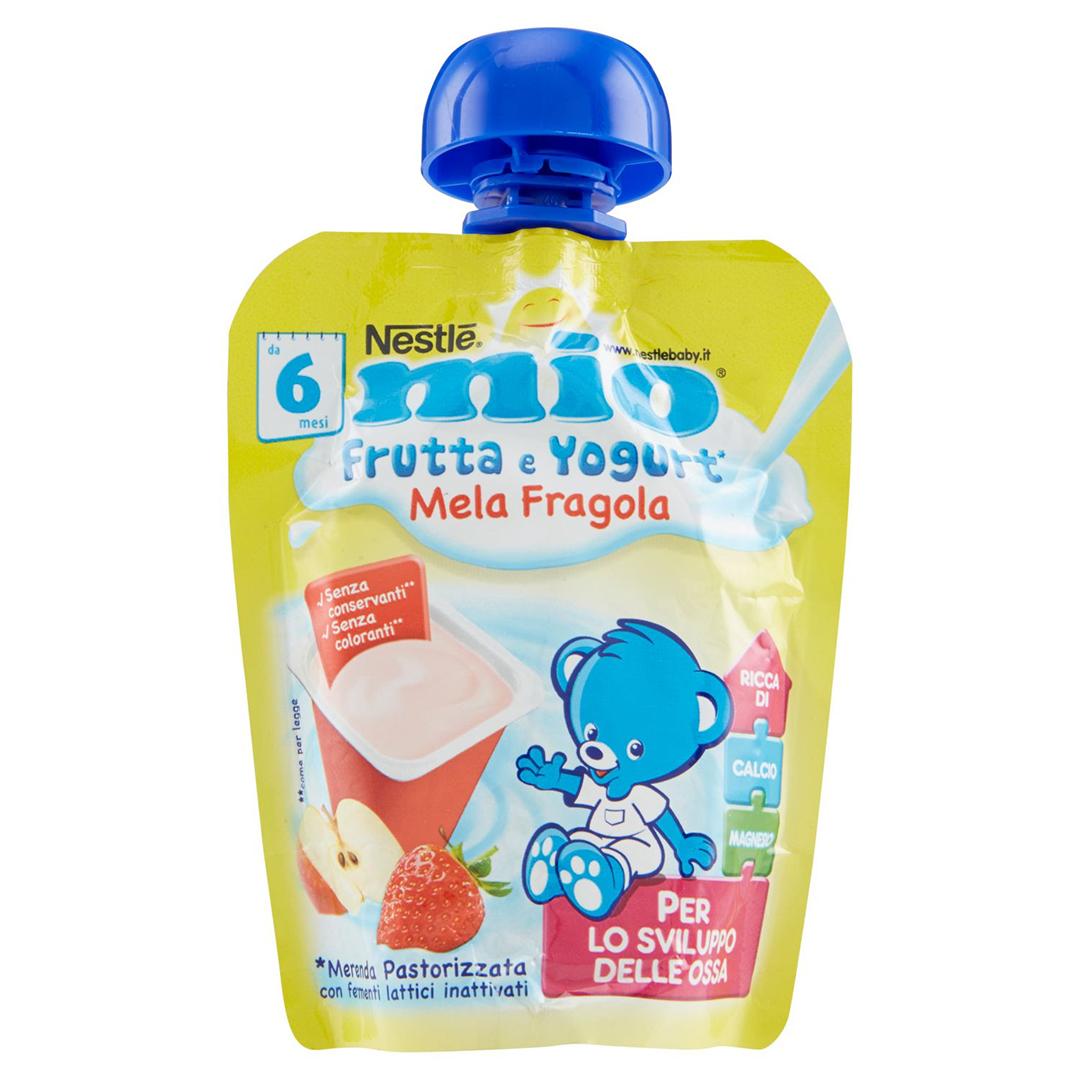 Mio Pouch Frutta & Yogurt Mela Fragola 90g