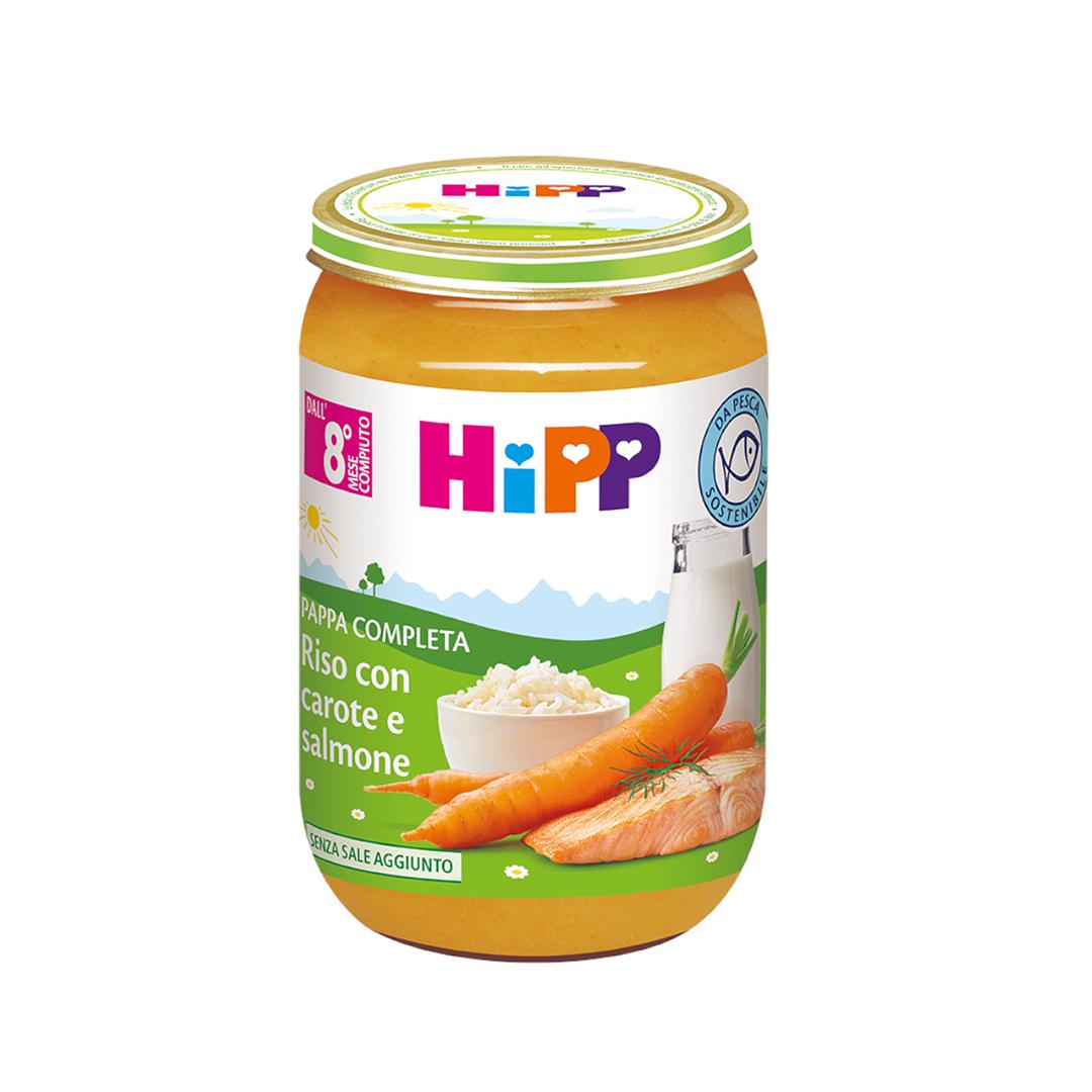 Hipp Pappe Pronte Riso con carote e salmone 220g