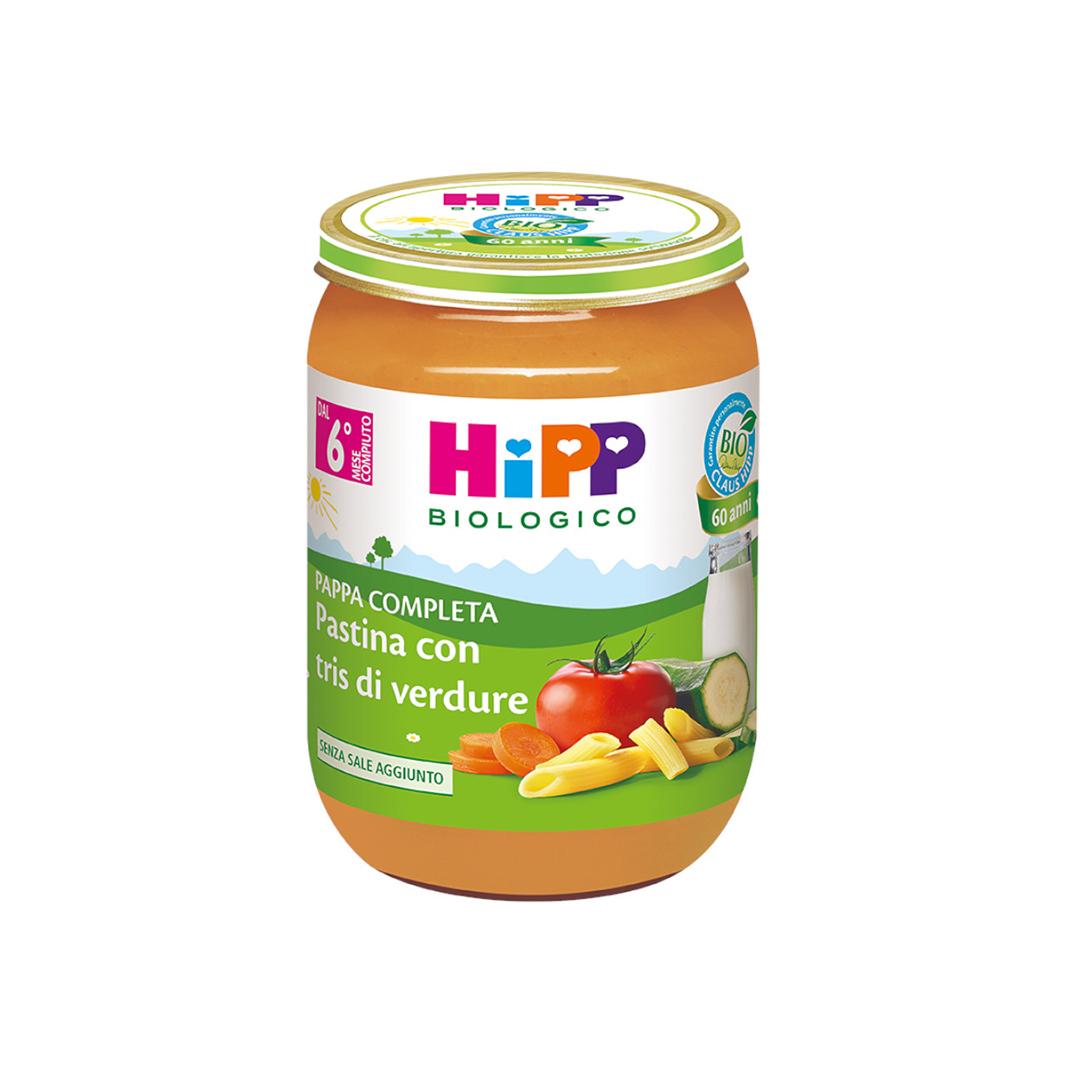 Hipp Pappe Pronte Pastina con tris di verdure 190g