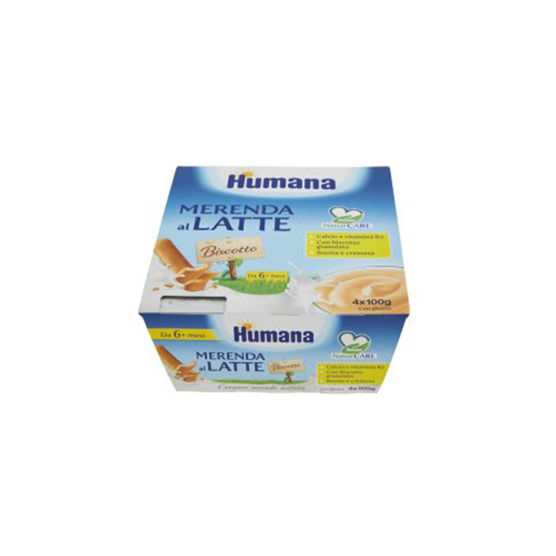 Humana Merenda al Latte Biscotto