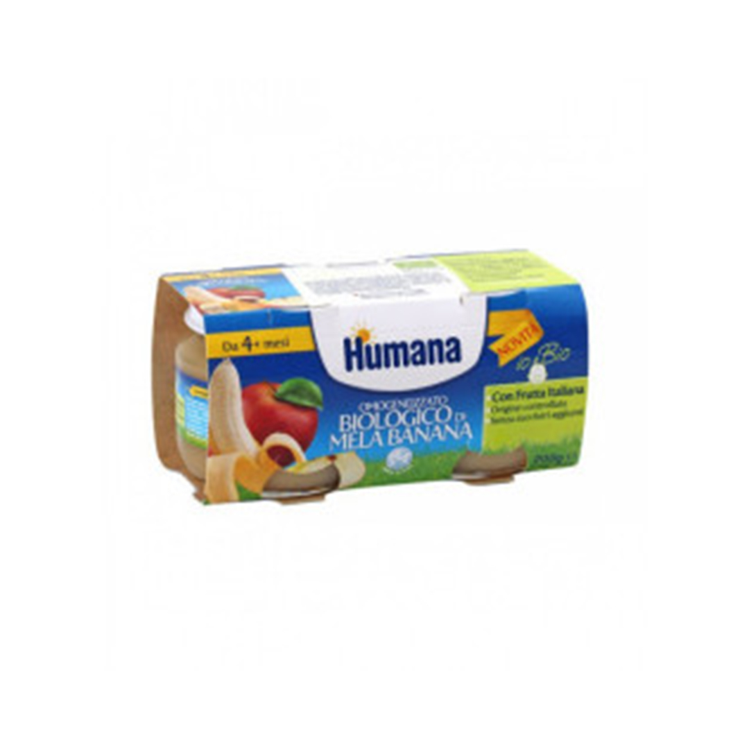 Humana Omogeneizzato Mela Banana Biologico 2x100g