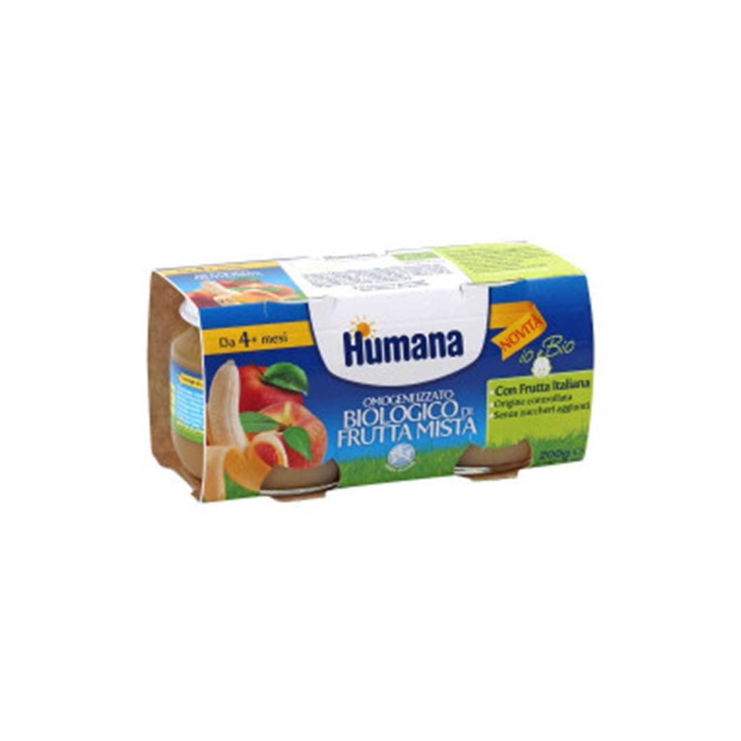 Humana OmogeneizzatoFrutta Mista Biologica 2x100g