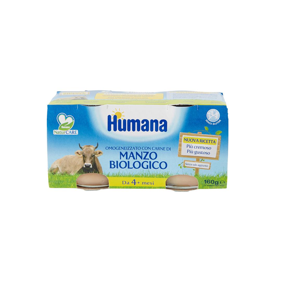 Humana Omogenizzato Manzo Biologico 2x80g