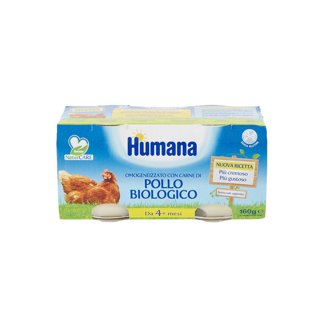 Humana Omogenizzato Pollo Biologico 2x80g