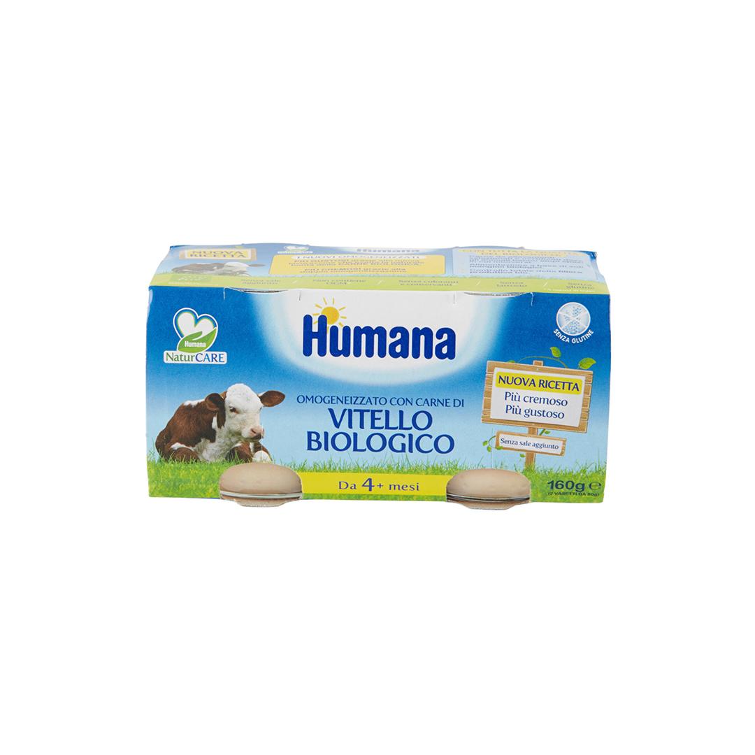 Humana Omogenizzato Vitello Biologico 2x80g