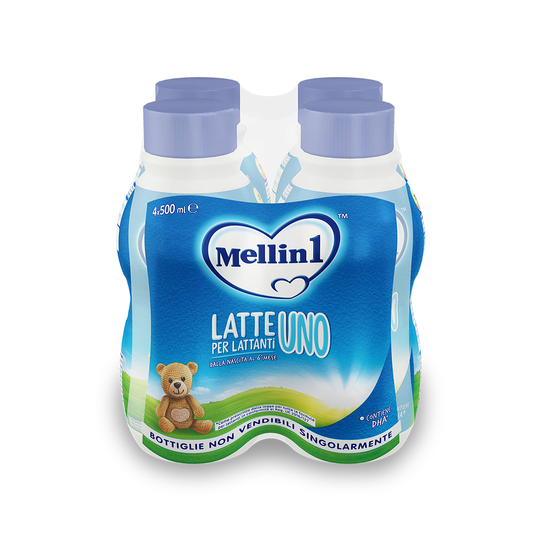 Mellin 1 Latte Liquido 4x500ml