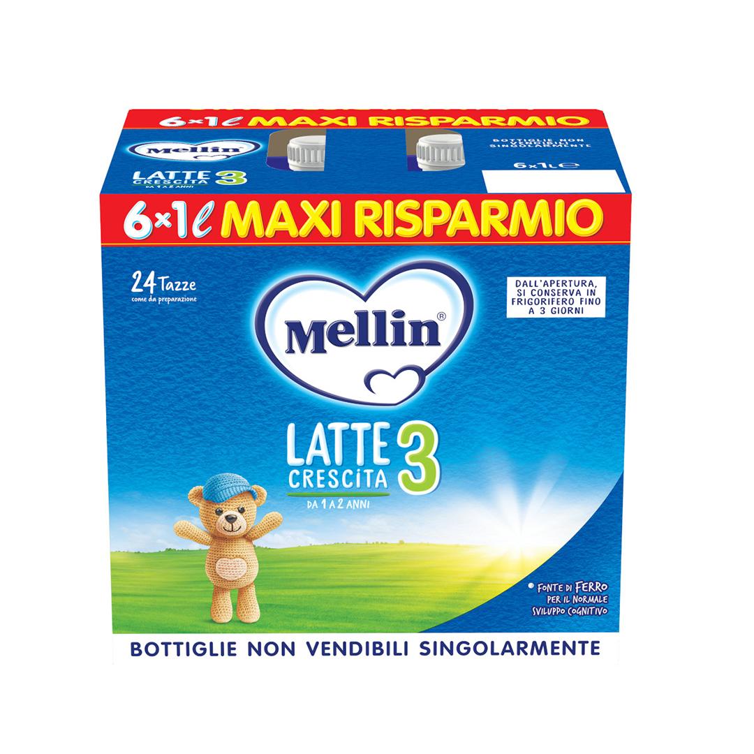 Mellin 3 Latte Liquido 6x1000ml