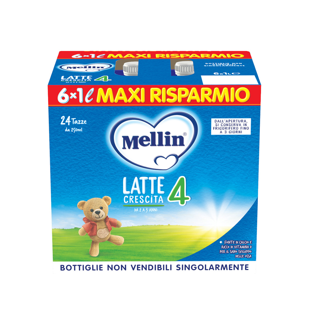 Mellin 4 Latte Liquido 6x1000ml