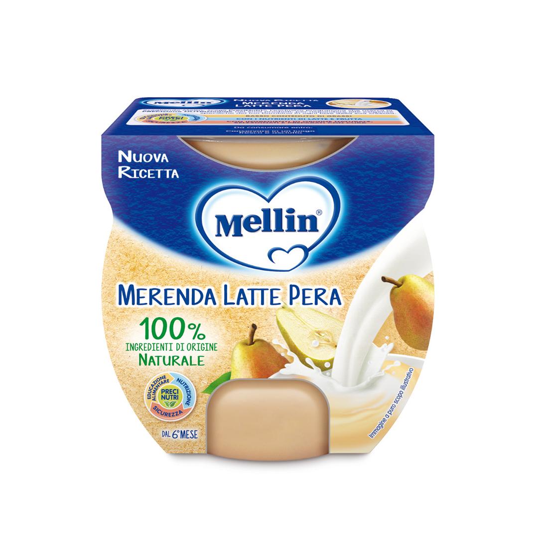Mellin Merenda Latte Pera 2x100g