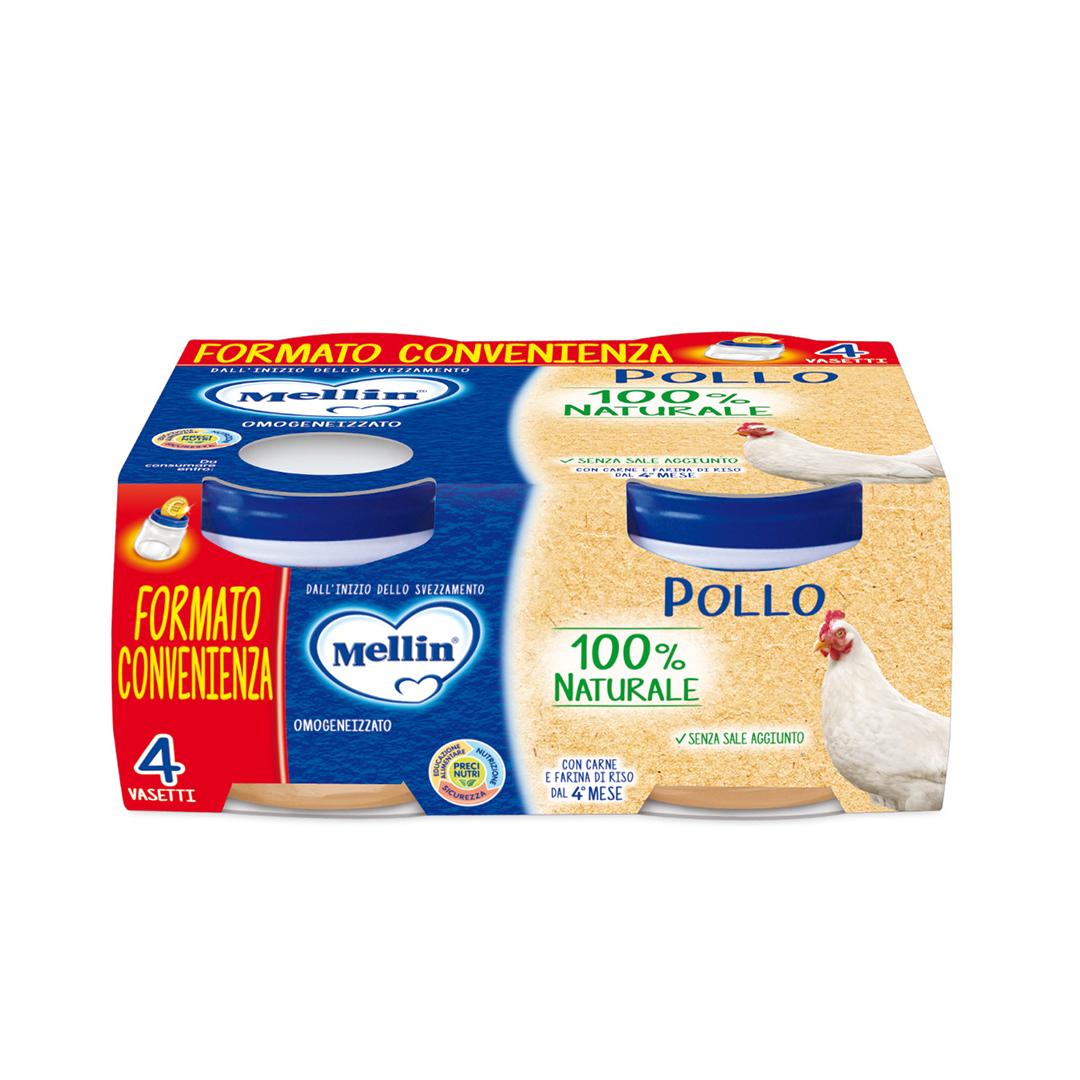 Mellin Omogenizzati Pollo 4x80g