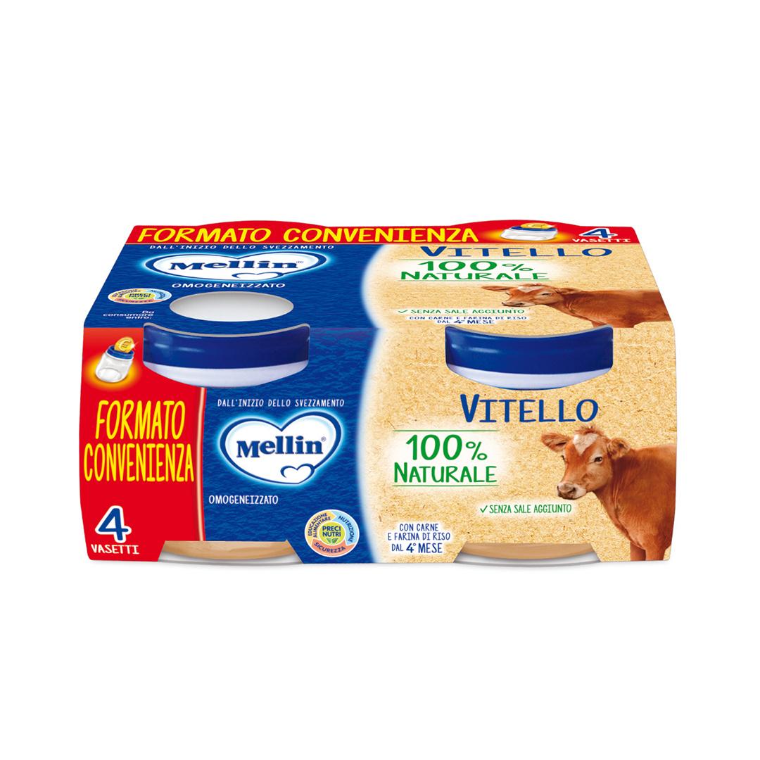 Mellin Omogenizzati Vitello 4x80g