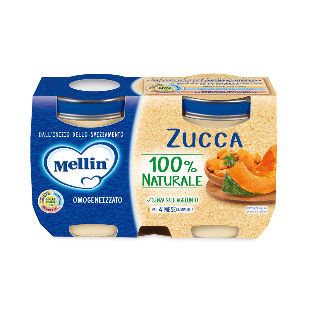 Mellin Omogenizzati Zucca 2x125g
