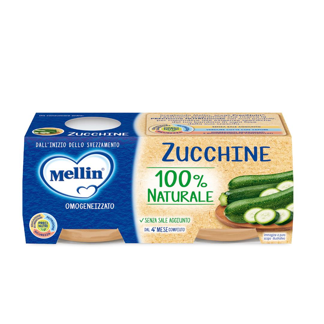 Mellin Omogenizzati Zucchine 2x80g