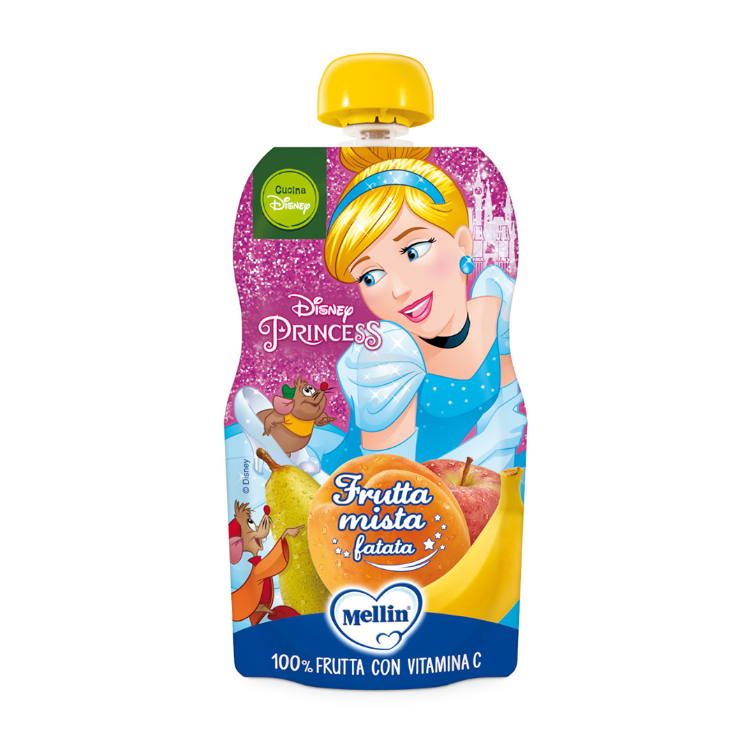 Mellin Pouch Disney Principessa Frutta Mista 110g