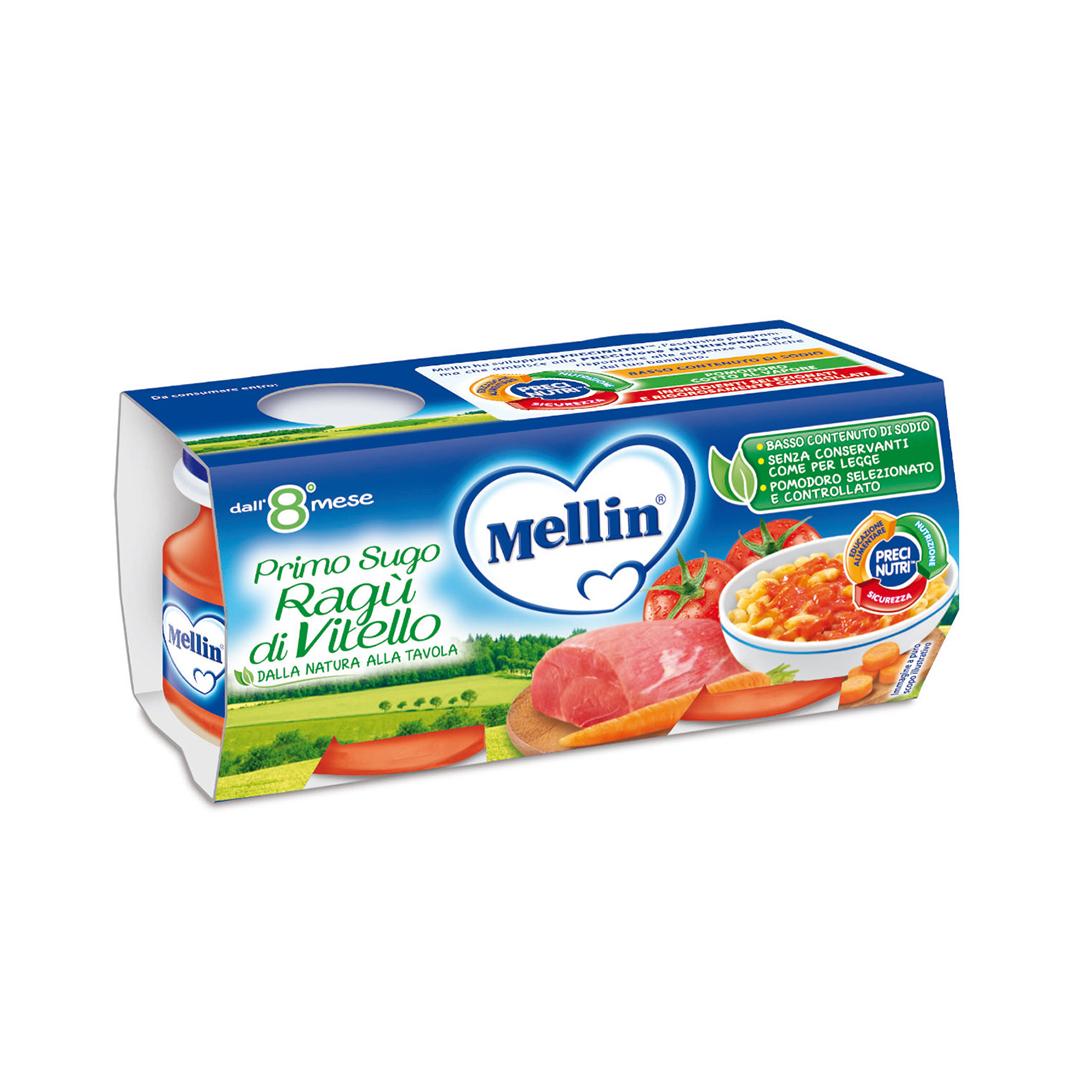 Mellin Primo Sugo Ragù di Vitello 2x80g