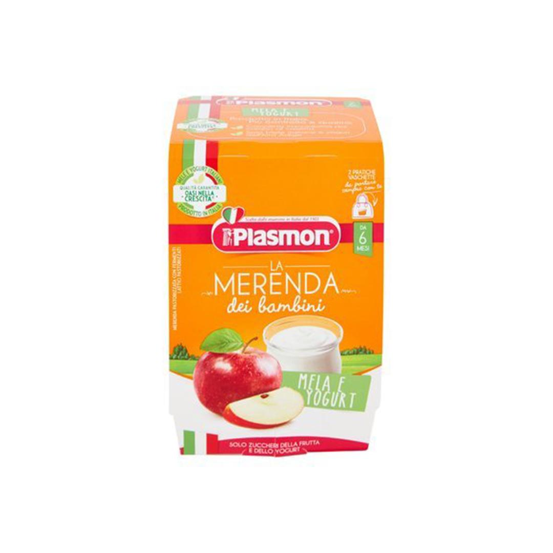 Plasmon La Merenda Dei Bambini Mela Yogurt 2x120g