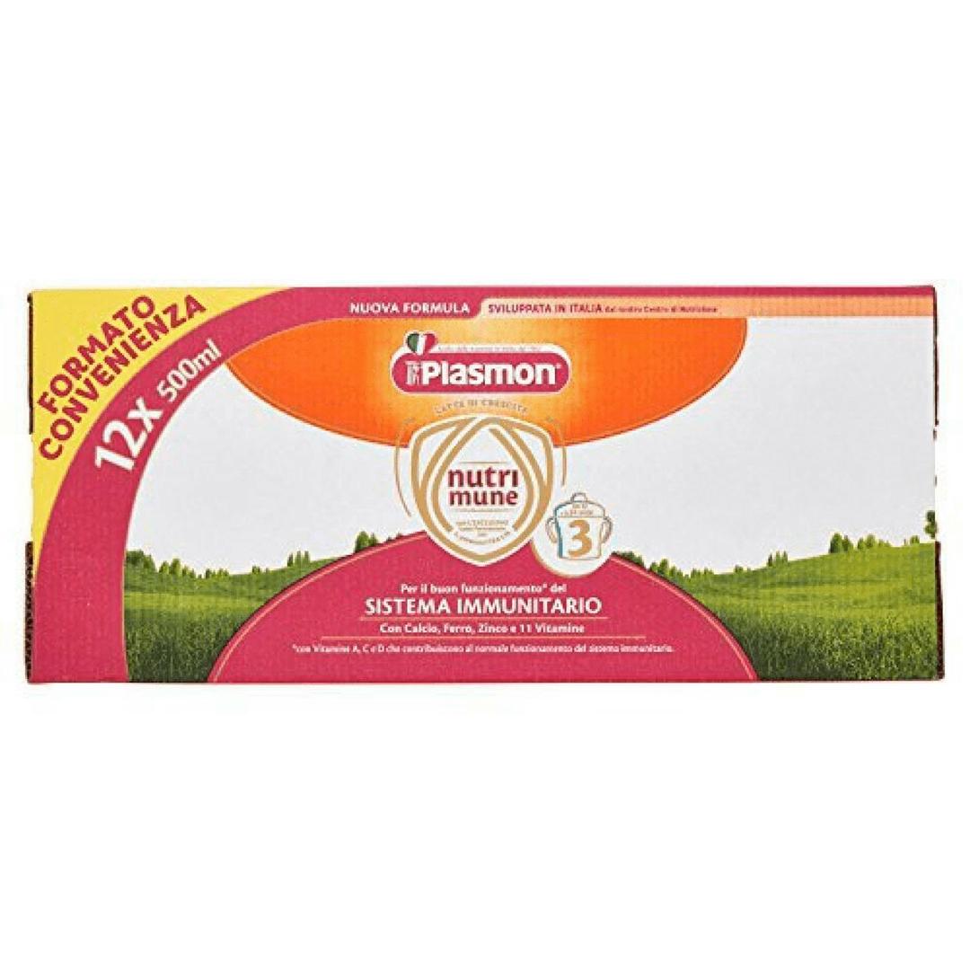 Plasmon Latte Liquido Nutri - Mune 3 12x500ml