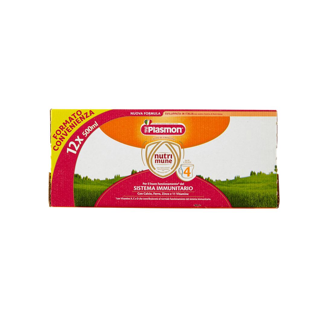 Plasmon Latte Liquido Nutri - Mune 4 12x500ml