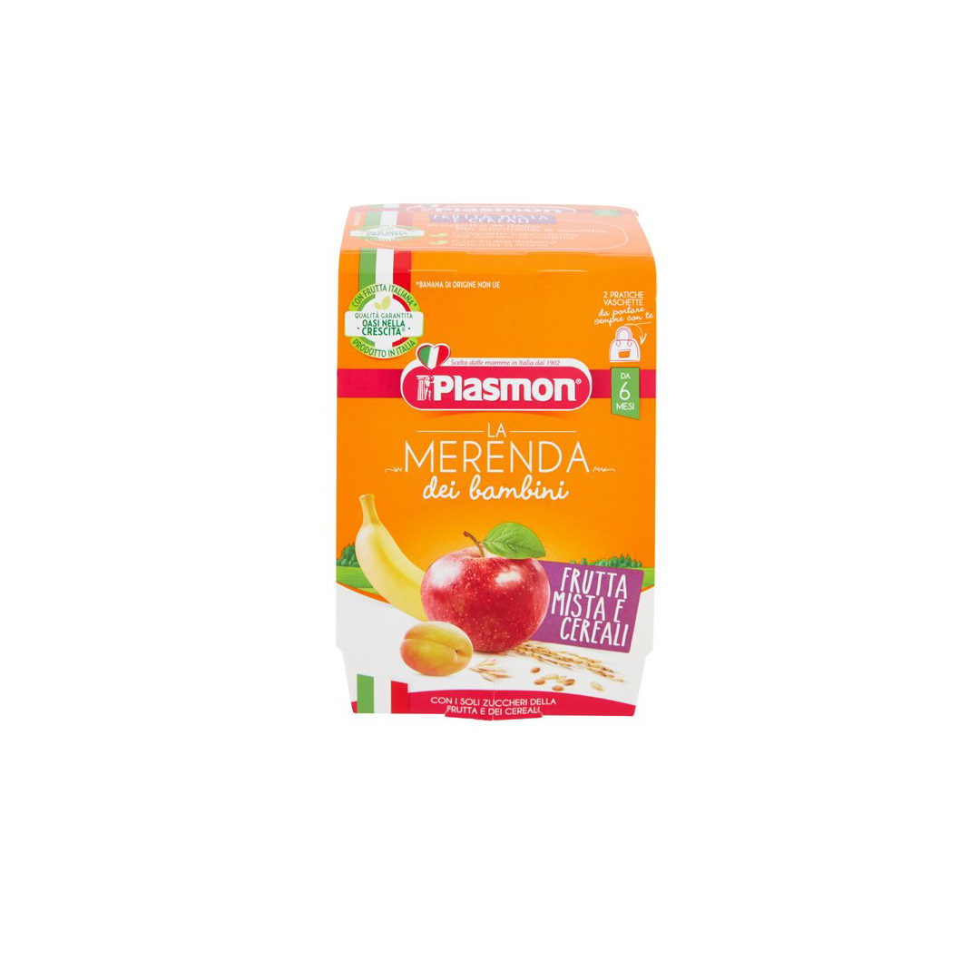 Plasmon Merende ai Cereali e Frutta Mista 2x120g