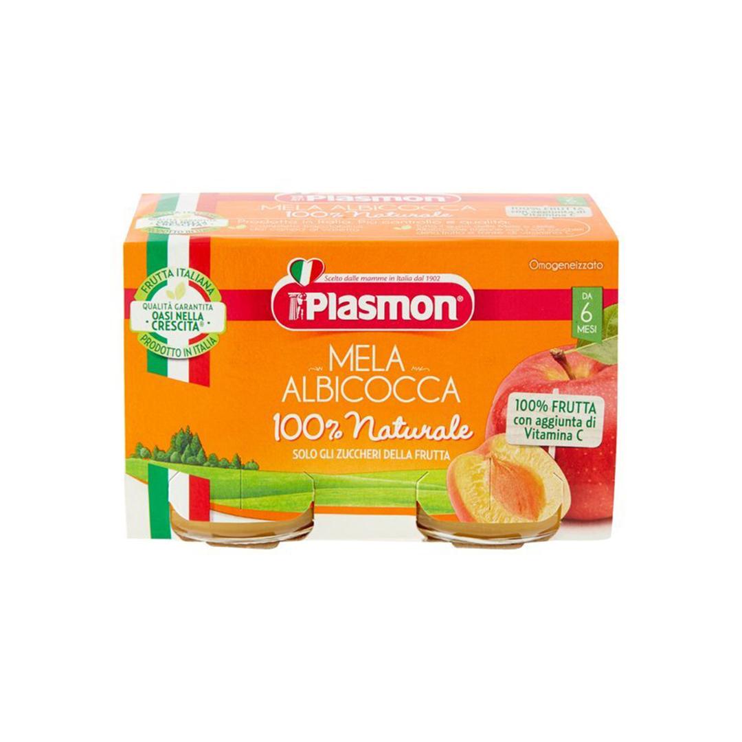 Plasmon Omo Frutta Albicocca Mela 2x104g