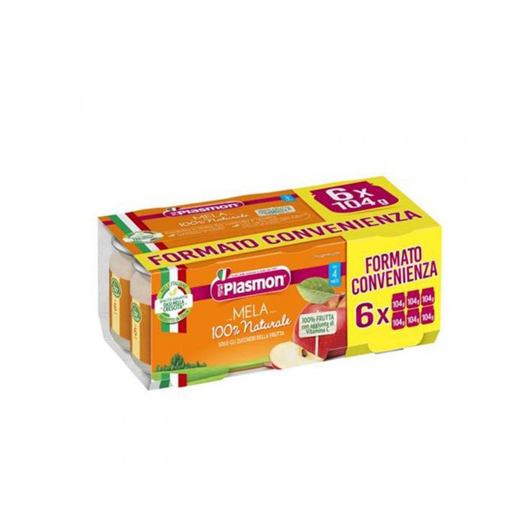Plasmon Omo Frutta Mela 6x104g
