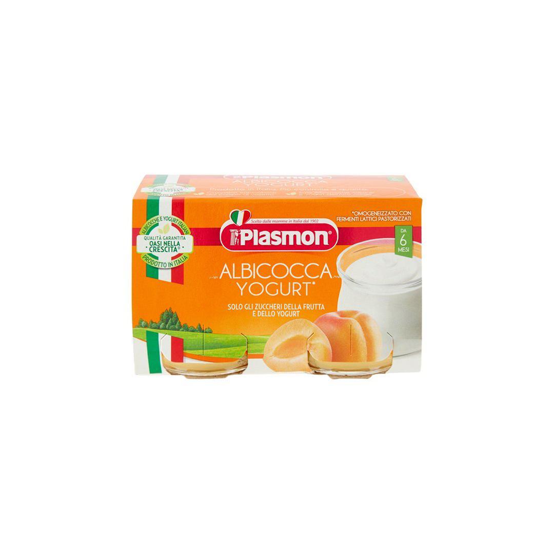 Plasmon Omogeneizzato Albicocca e Yogurt 2x120g
