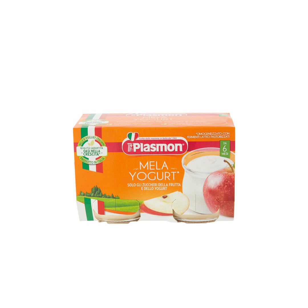 Plasmon Omogeneizzato Mela e Yogurt 2x120g