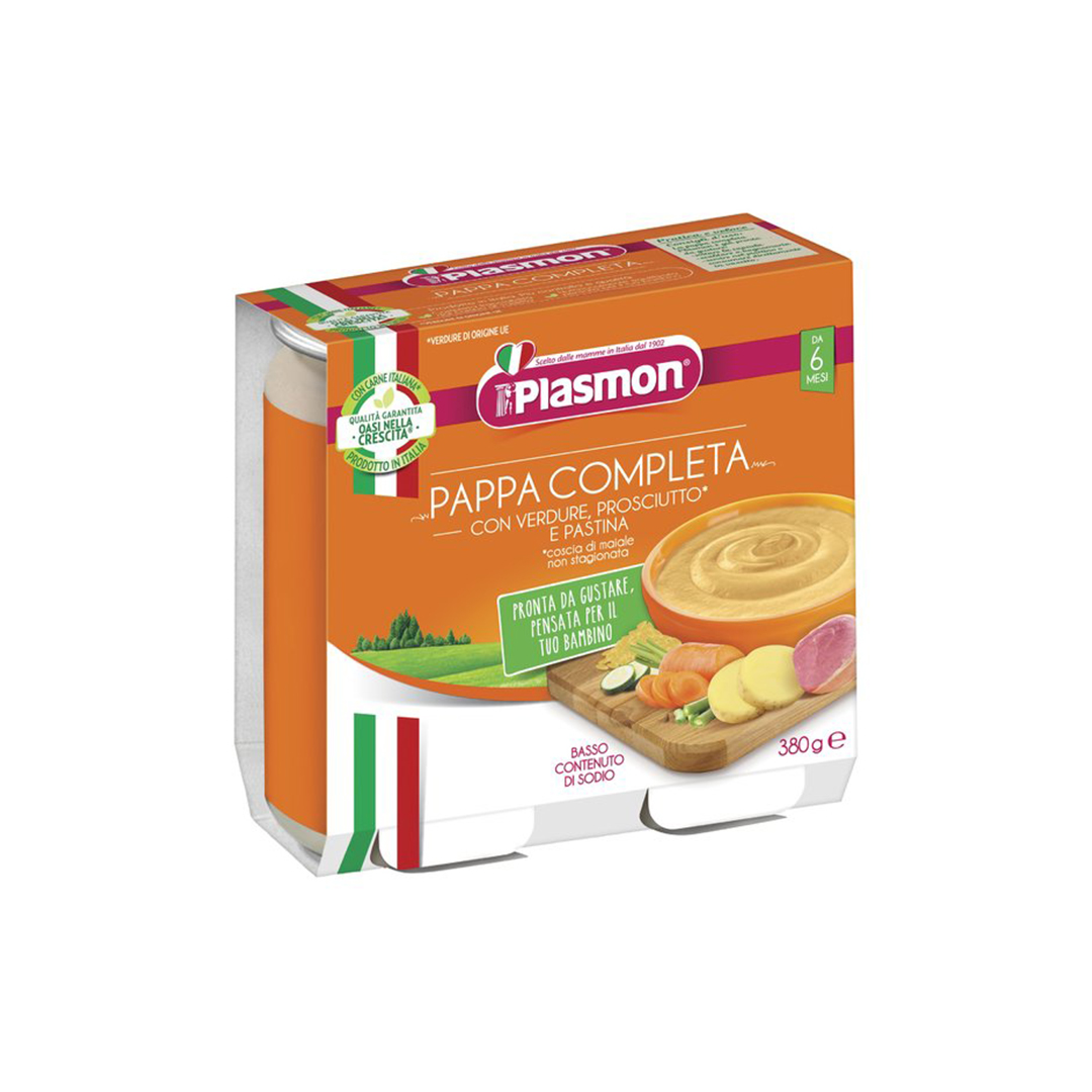 Plasmon Pappa Completa Prosciutto Verdura Pastina
