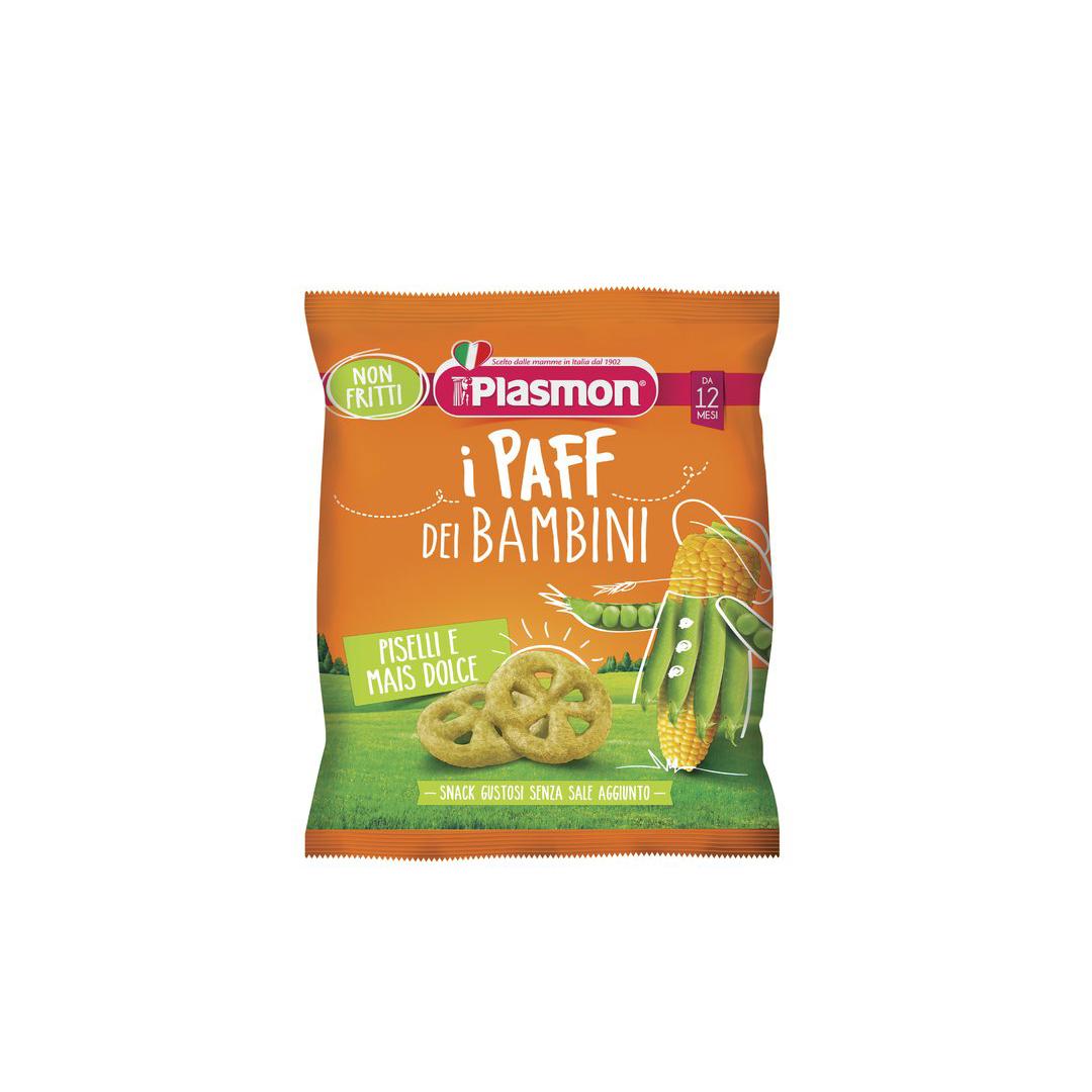 Plasmon i Paff dei Bambini Mais e Piselli 15 g