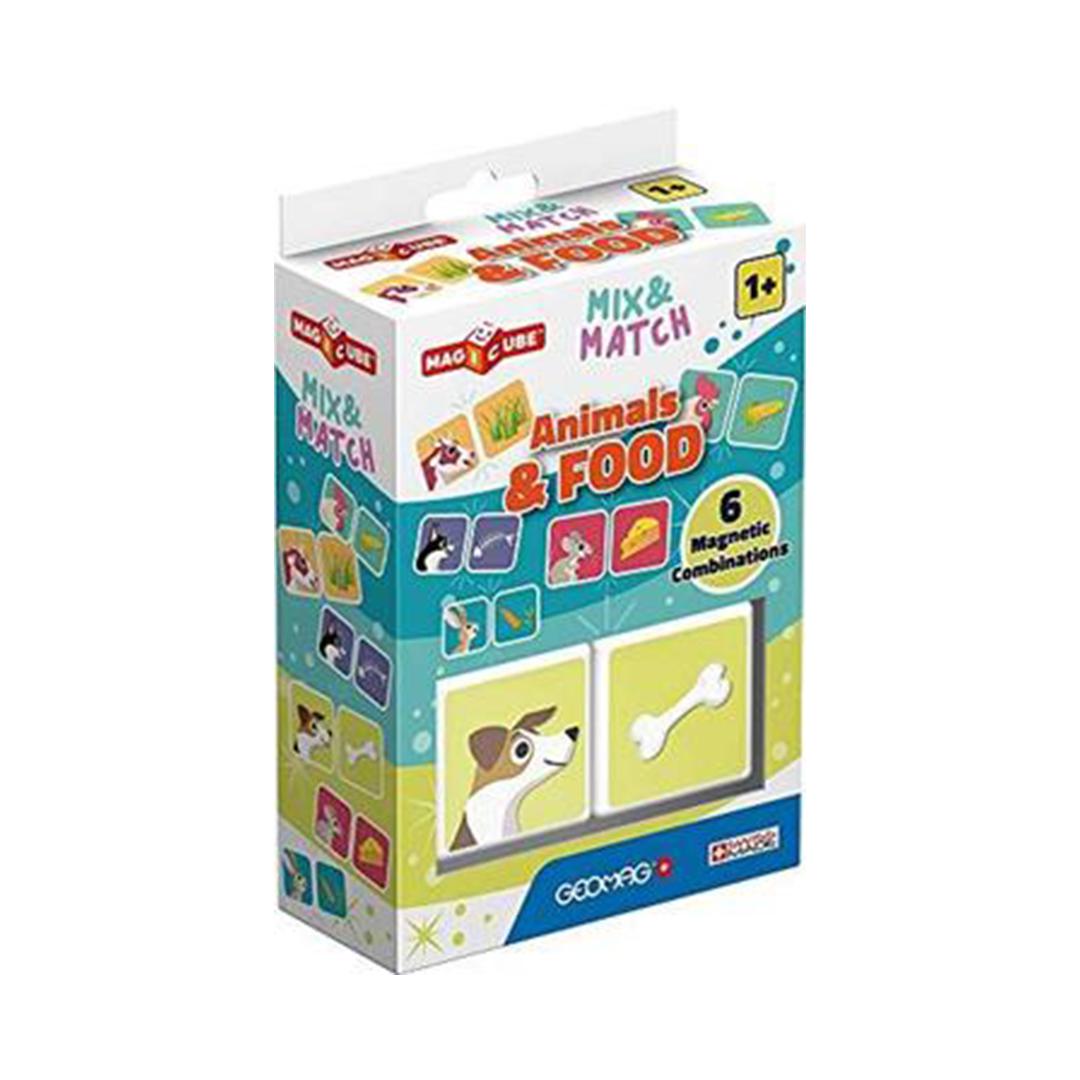Geomag Magicube Mix & Match Animals & Food